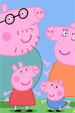 Preview iPhone wallpaper Peppa Pig, classic anime