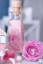 Preview iPhone wallpaper Pink rose, petals, perfume