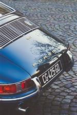 Preview iPhone wallpaper Porsche 911 supercar rear view, retro