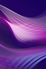 Purple abstract curves, lines