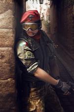 Preview iPhone wallpaper Rainbow Six Siege, girl, gun