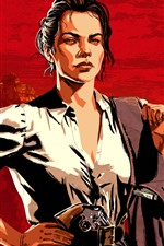 Preview iPhone wallpaper Red Dead Redemption 2, girl