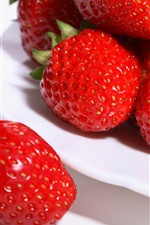 Preview iPhone wallpaper Red strawberry, fruit, berries