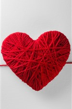Preview iPhone wallpaper Red wool love heart