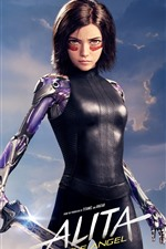 Preview iPhone wallpaper Rosa Salazar, Alita: Battle Angel