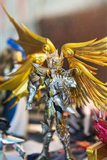 Preview iPhone wallpaper Saint Seiya, Hyoga, wings, toy