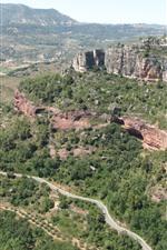 미리보기 iPhone 배경 화면 스페인, 산, 나무, 도로, 자연 경관