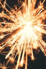 Sparks, glitter, night