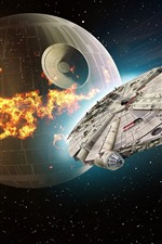 Preview iPhone wallpaper Star Wars, Death Star, spaceship