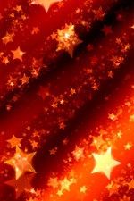 Stars, shine, red, abstract picture