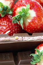 Strawberry and chocolate, fruit