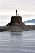 Preview iPhone wallpaper Submarine, Navy, sea
