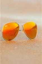 Preview iPhone wallpaper Sunglass, beach, sand
