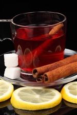 Preview iPhone wallpaper Tea, lemon slice, cinnamon
