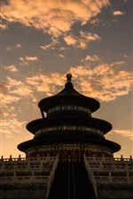 Preview iPhone wallpaper Temple of Heaven, dusk, clouds, Beijing, China