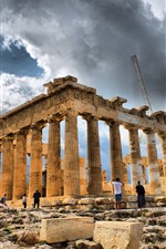 미리보기 iPhone 배경 화면 그리스, 유적, 궁전 여행