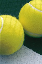 Preview iPhone wallpaper Two tennis balls