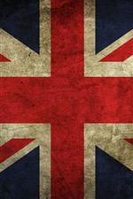 Vorschau des iPhone Hintergrundbilder Britische Flagge, Textur