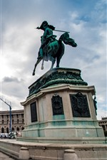 Viena, Áustria, quadrado, estátua, cidade