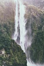 Preview iPhone wallpaper Waterfall, cliff, water splash