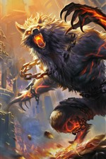 Preview iPhone wallpaper Werewolf, art picture