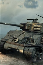Preview iPhone wallpaper World of Tanks, battle, fire