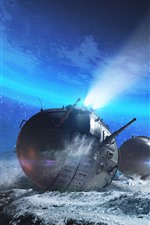 Preview iPhone wallpaper World of Tanks, space, stones