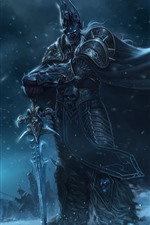 Preview iPhone wallpaper World of Warcraft, WOW, warrior, sword