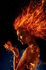 Preview iPhone wallpaper X-Men: Dark Phoenix, girl, fire
