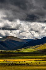 Preview iPhone wallpaper Zoige grassland, China