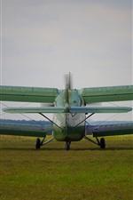 Antonov An-2 plane, back view, ground