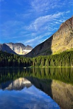 Preview iPhone wallpaper Beautiful nature landscape, mountains, trees, lake, clear water, reflection