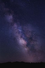 Preview iPhone wallpaper Beautiful starry, sky, night