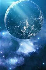 Belo universo, planetas, estrelas, luz