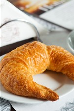 Preview iPhone wallpaper Breakfast, coffee, croissant