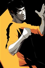 Preview iPhone wallpaper Bruce Lee, Kung Fu star, art picture