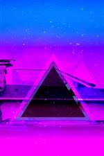 Car, blue and purple, art design