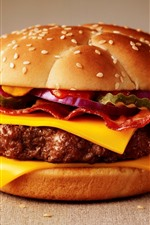 Preview iPhone wallpaper Cheeseburger, fast food