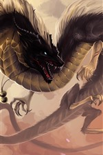 Preview iPhone wallpaper Chinese dragon, fantasy animal