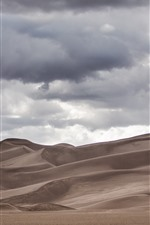 Preview iPhone wallpaper Desert, clouds, sky