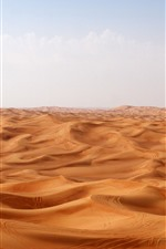 Preview iPhone wallpaper Desert, dunes, clouds, hot