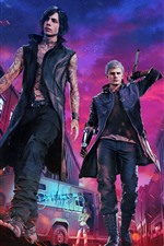 Preview iPhone wallpaper Devil May Cry 5, PS4 game