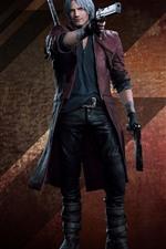 Devil May Cry 5, white hair man, guns