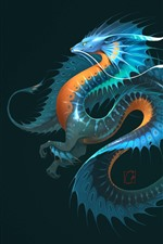 Preview iPhone wallpaper Dragon, fantasy animal