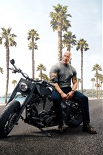 Preview iPhone wallpaper Dwayne Johnson, Jason Statham, Fast and Furious 8