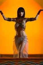 Menina do Egito, pose, decoração