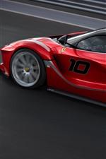 Preview iPhone wallpaper Ferrari FXXK red supercar speed