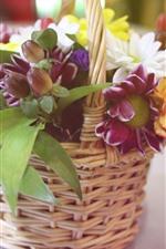 Preview iPhone wallpaper Flowers, bouquet, basket, hazy