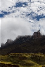 Fog, clouds, mountains, nature landscape, Tibet, China