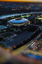 Football Stadium, Luzhniki, Russia, city, lights, night